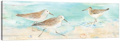 Sandpiper Beach Panel Canvas Art Print
