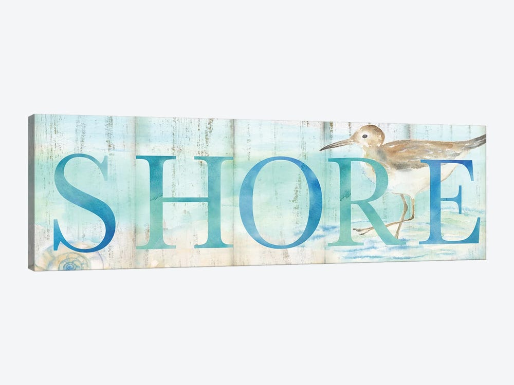 Shore Sandpiper Sign by Cynthia Coulter 1-piece Canvas Art