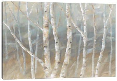 Silver Birch Landscape Canvas Art Print