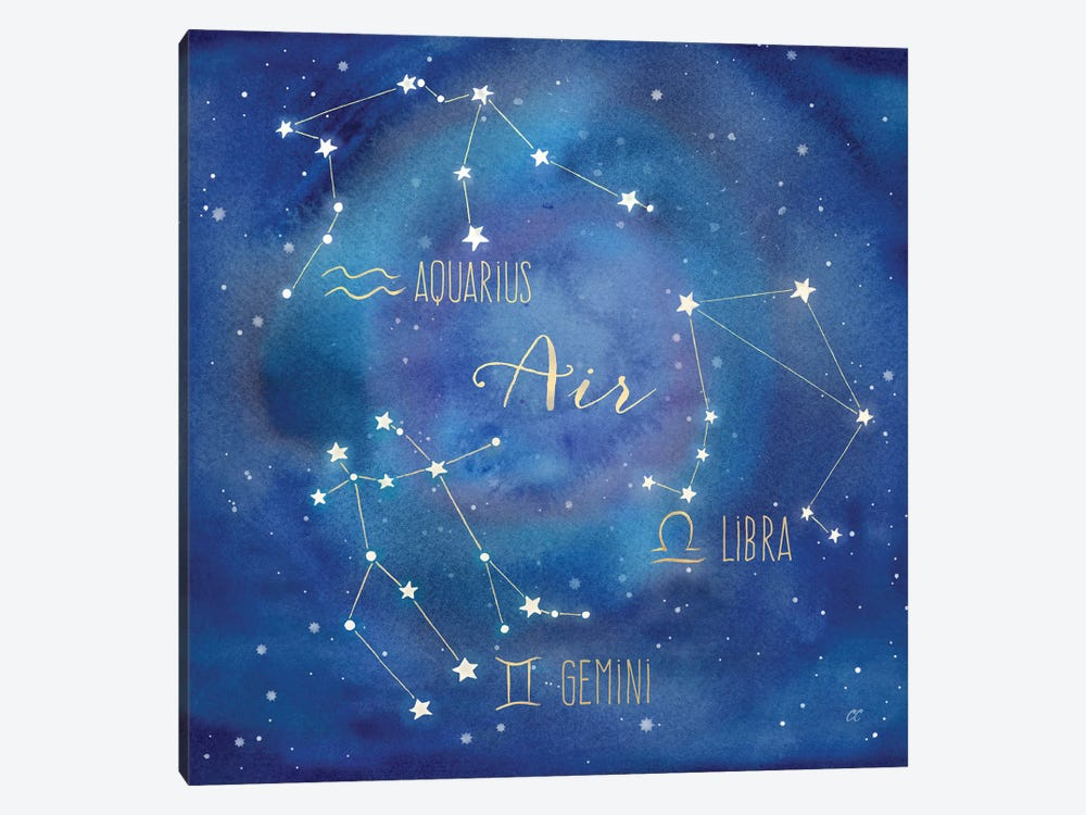 Star Sign Air by Cynthia Coulter 1-piece Canvas Art Print