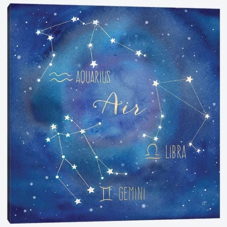 Star Sign Air Canvas Print #CYN75} by Cynthia Coulter Canvas Artwork