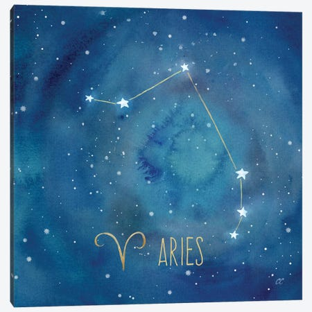 Star Sign Aries Canvas Print #CYN77} by Cynthia Coulter Canvas Art