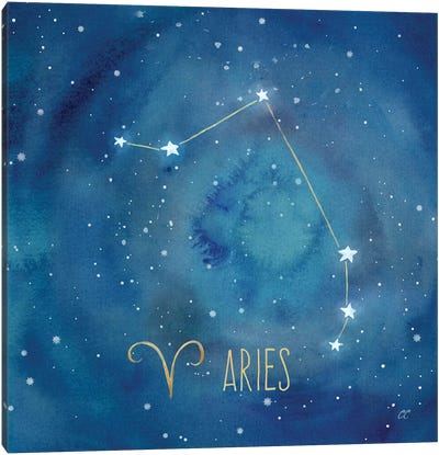 Star Sign Aries Canvas Art Print