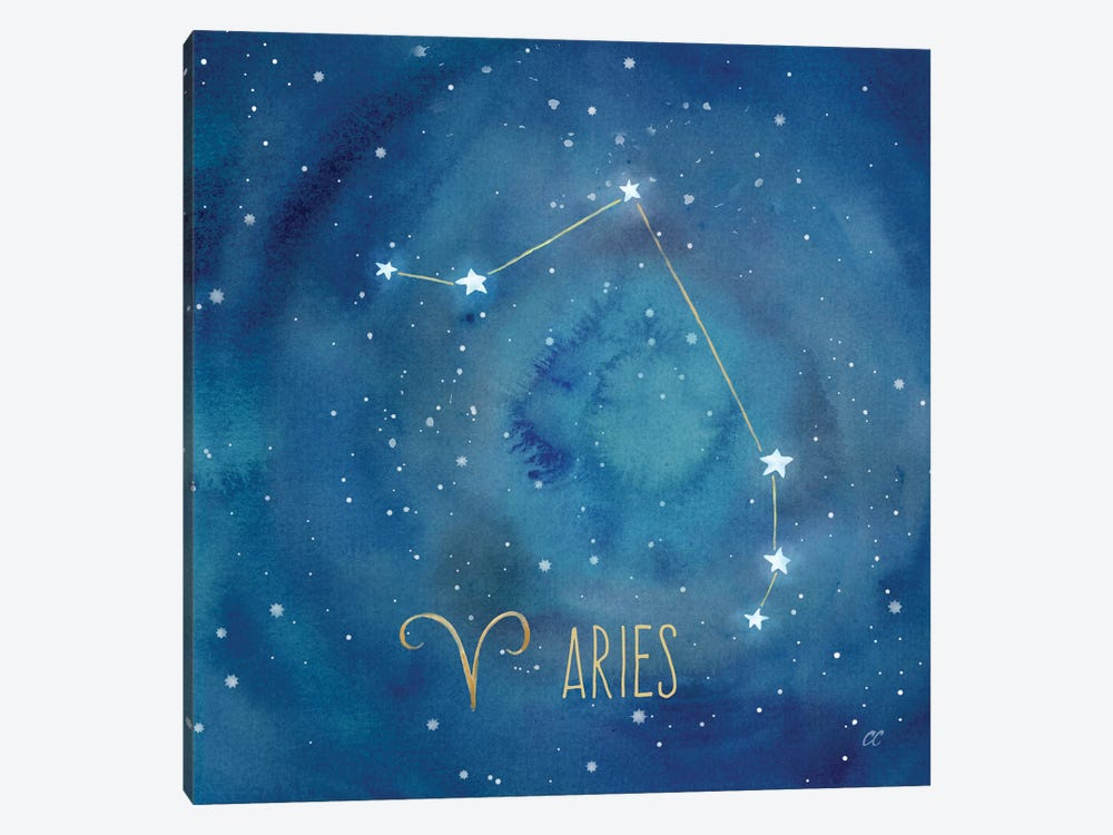 Star Sign Aries by Cynthia Coulter 1-piece Canvas Print