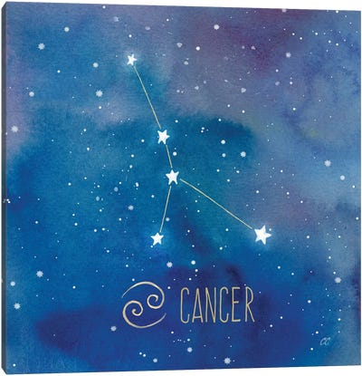 Star Sign Cancer Canvas Art Print