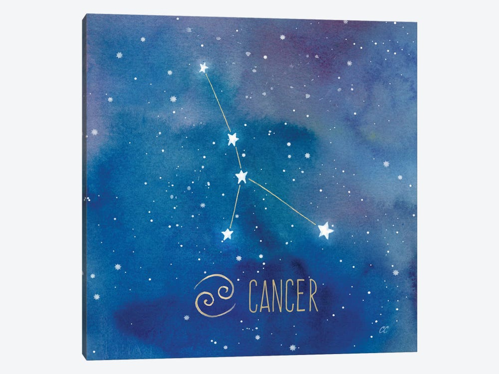 Star Sign Cancer by Cynthia Coulter 1-piece Canvas Wall Art