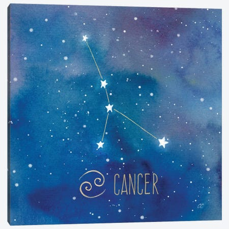 Star Sign Cancer 3-Piece Canvas #CYN78} by Cynthia Coulter Canvas Art Print