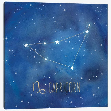 Star Sign Capricorn Canvas Print #CYN79} by Cynthia Coulter Art Print