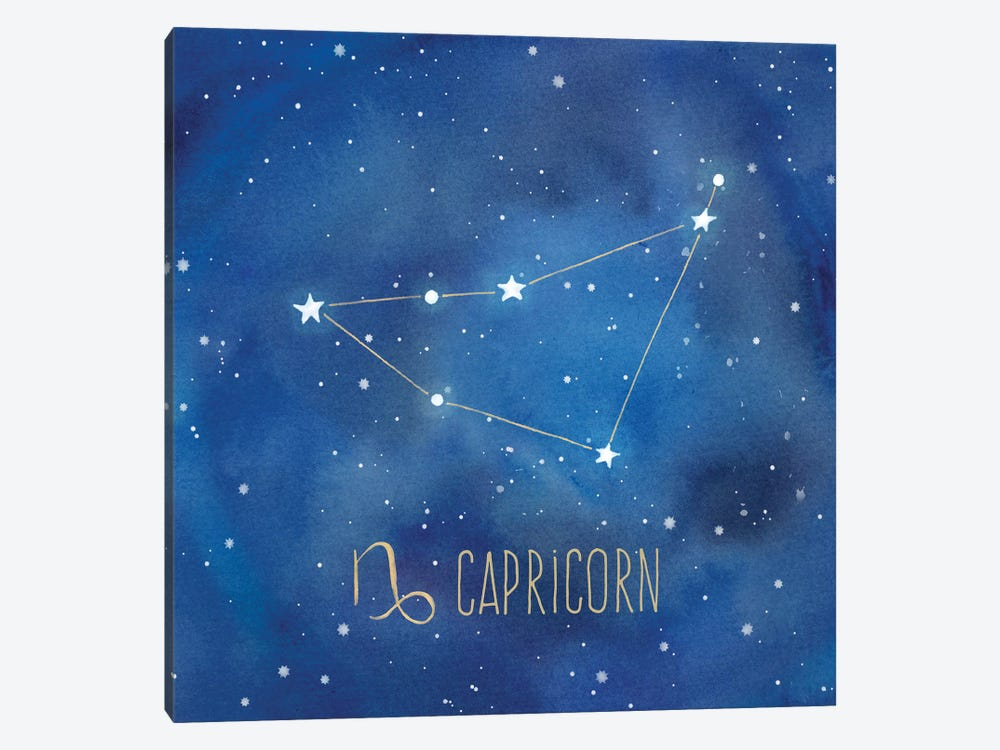 Star Sign Capricorn by Cynthia Coulter 1-piece Canvas Art Print