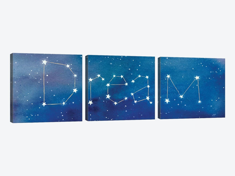 Star Sign Dream by Cynthia Coulter 3-piece Canvas Art Print