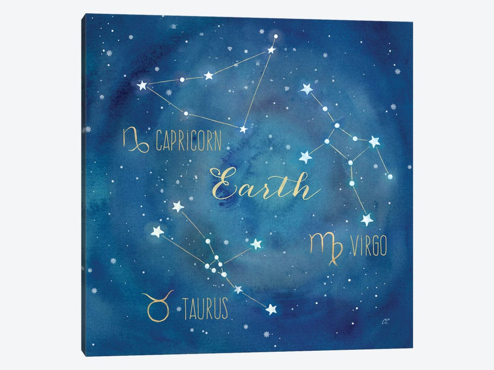 Star Sign Earth by Cynthia Coulter 1-piece Canvas Artwork