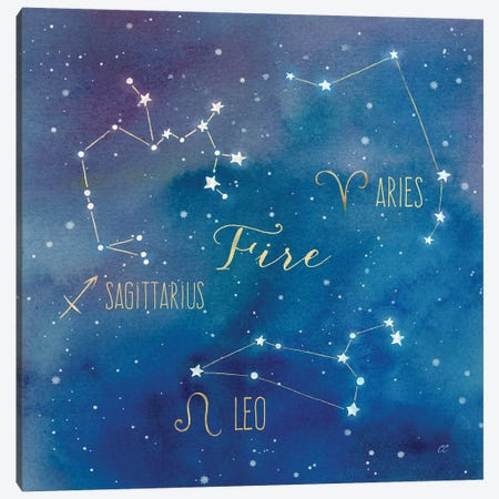 Star Sign Fire Canvas Print #CYN82} by Cynthia Coulter Canvas Art