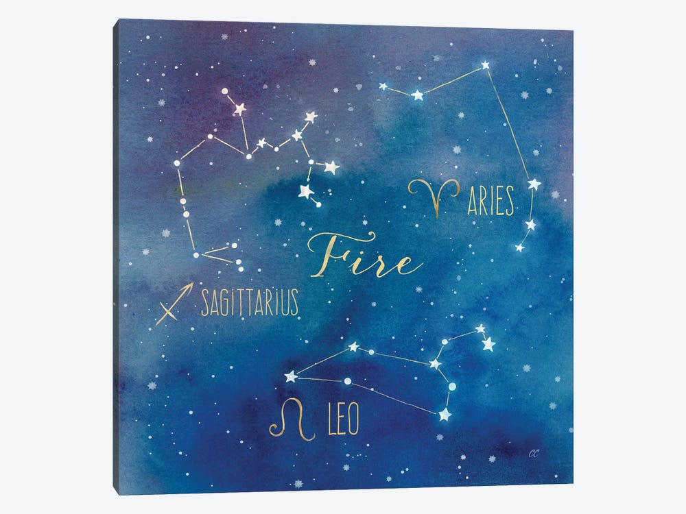 Star Sign Fire by Cynthia Coulter 1-piece Canvas Print