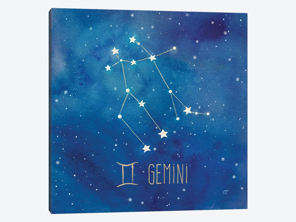 Star Sign Gemini 1-piece Canvas Wall Art