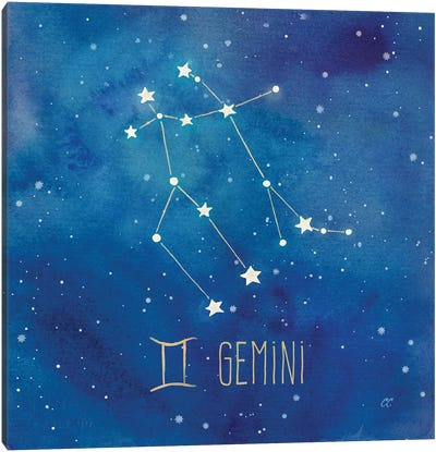 Star Sign Gemini Canvas Art Print