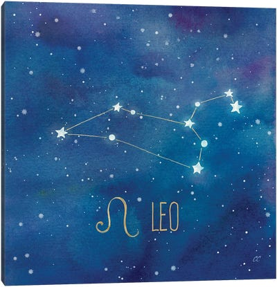 Star Sign Leo Canvas Art Print
