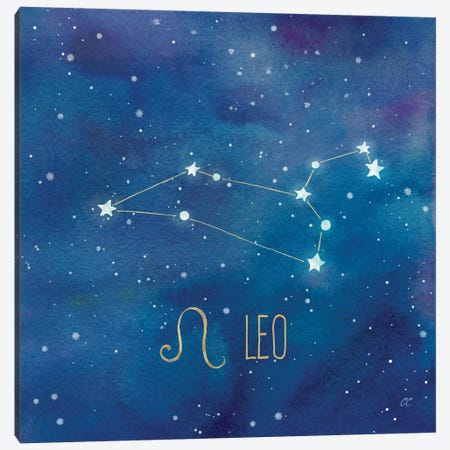 Star Sign Leo Canvas Print #CYN84} by Cynthia Coulter Canvas Print