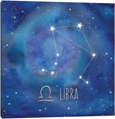 Star Sign Libra Canvas Art Print