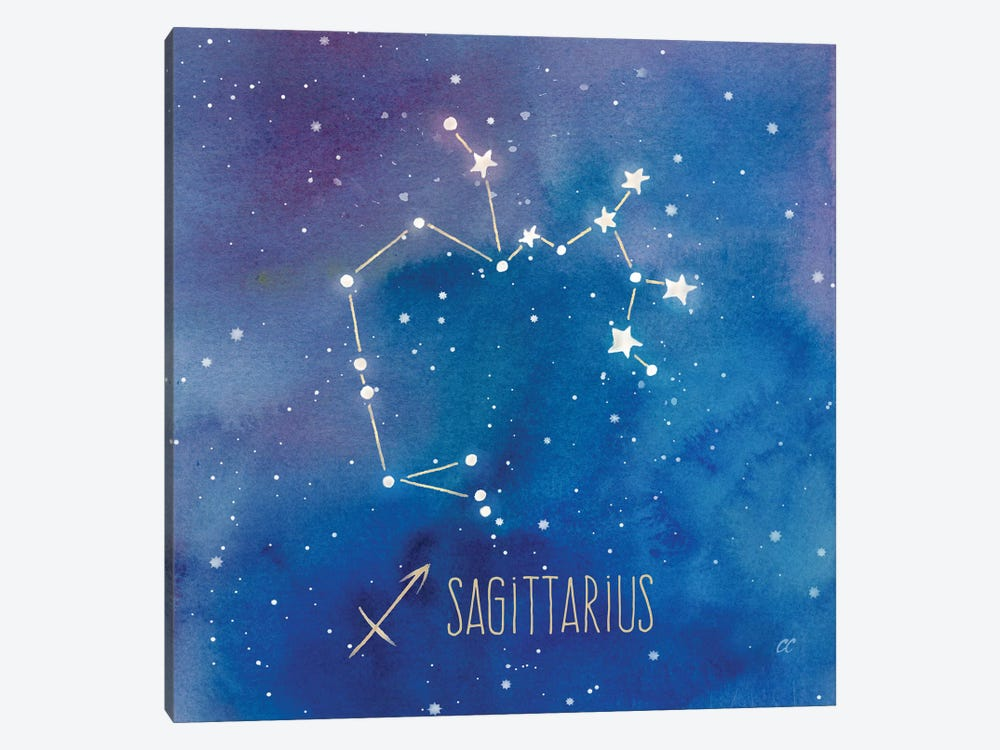 Star Sign Sagittarius by Cynthia Coulter 1-piece Canvas Wall Art