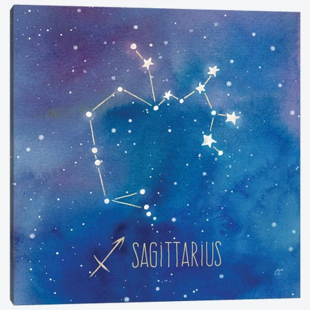 Star Sign Sagittarius Canvas Print #CYN87} by Cynthia Coulter Canvas Art Print