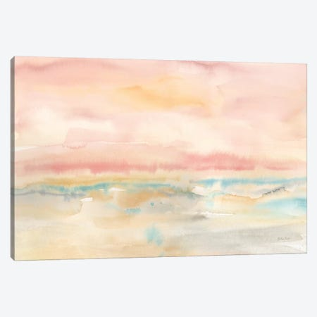 Blush Seascape Canvas Print #CYN8} by Cynthia Coulter Canvas Art