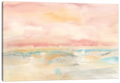 Blush Seascape Canvas Art Print