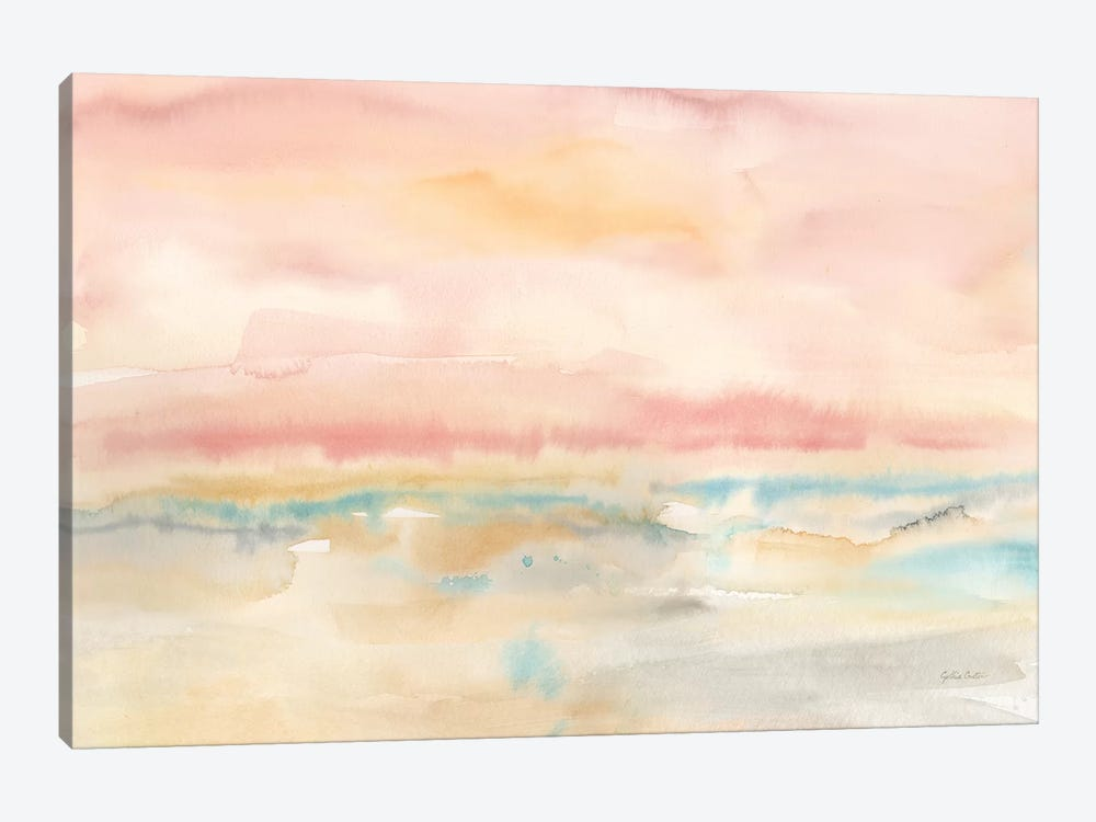 Blush Seascape by Cynthia Coulter 1-piece Canvas Artwork