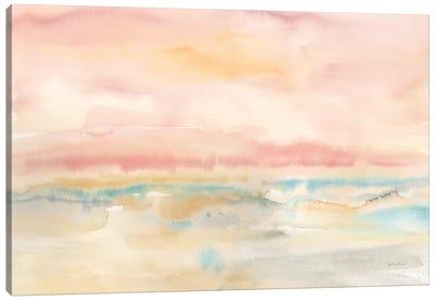 Blush Seascape Canvas Art Print