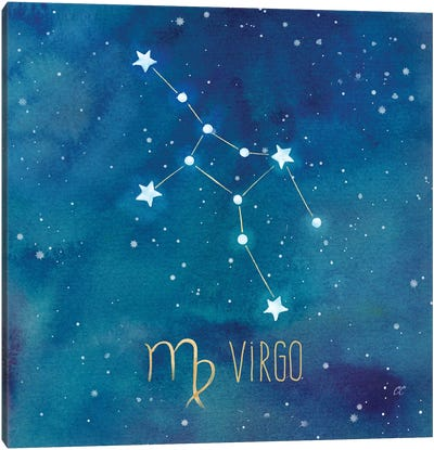 Star Sign Virgo Canvas Art Print