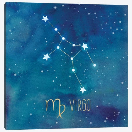 Star Sign Virgo 3-Piece Canvas #CYN90} by Cynthia Coulter Canvas Print