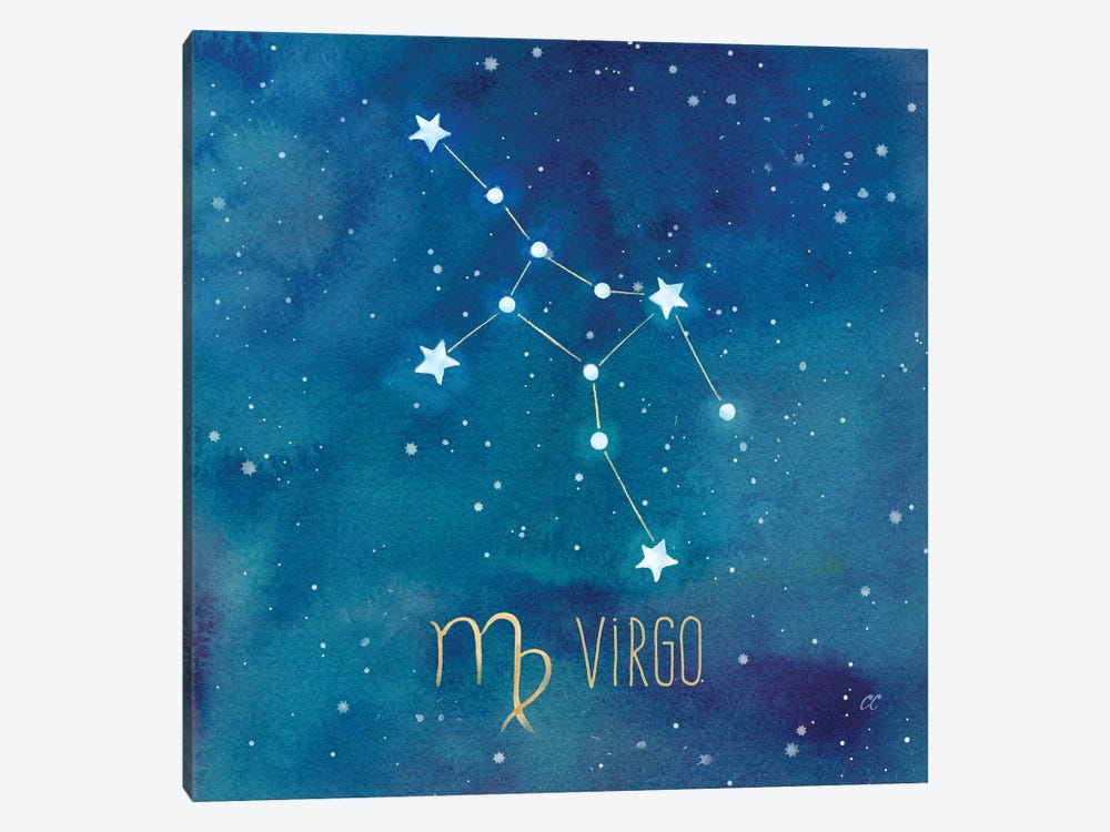 Star Sign Virgo by Cynthia Coulter 1-piece Canvas Wall Art