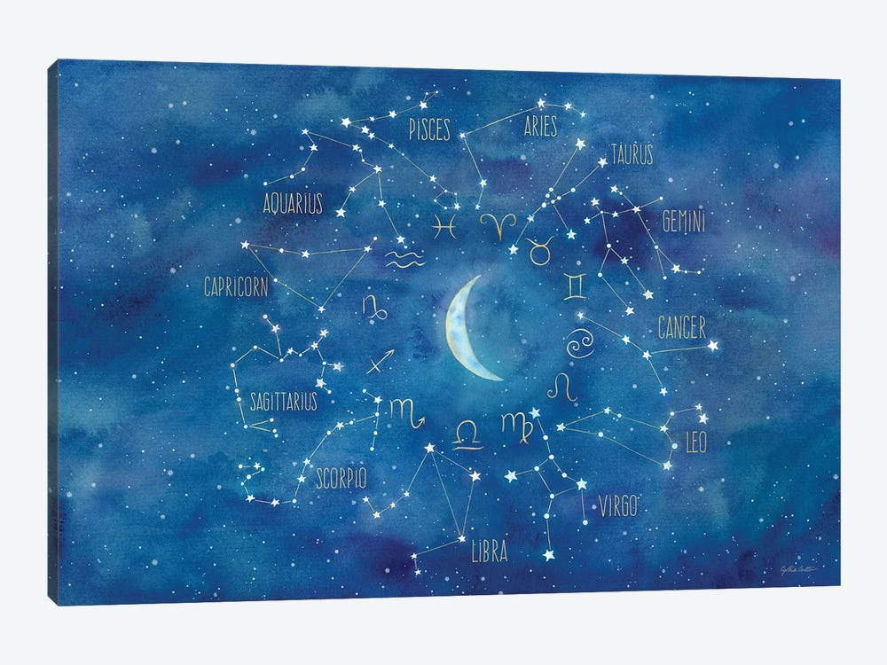 Star Sign With Moon Landscape by Cynthia Coulter 1-piece Art Print