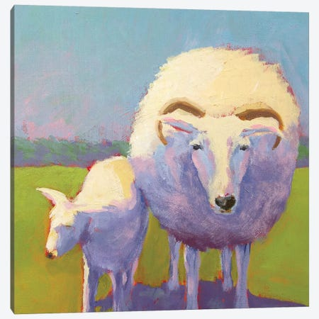 Sheep Pals II Canvas Print #CYO12} by Carol Young Canvas Artwork
