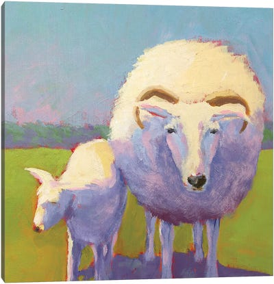 Sheep Pals II Canvas Art Print