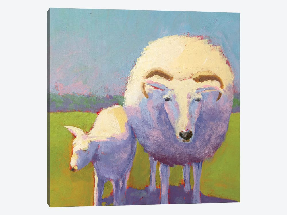 Sheep Pals II by Carol Young 1-piece Art Print