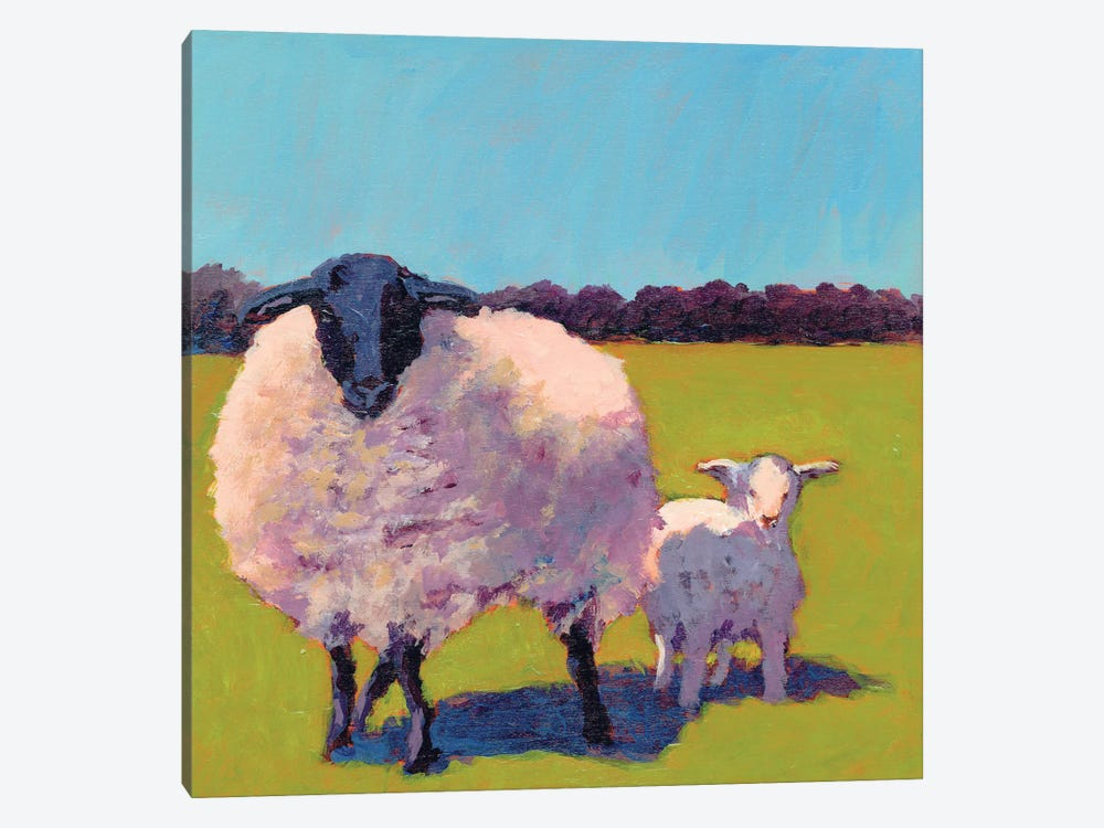 Sheep Pals III by Carol Young 1-piece Canvas Wall Art