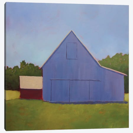 Primary Barns I Canvas Print #CYO23} by Carol Young Canvas Art Print