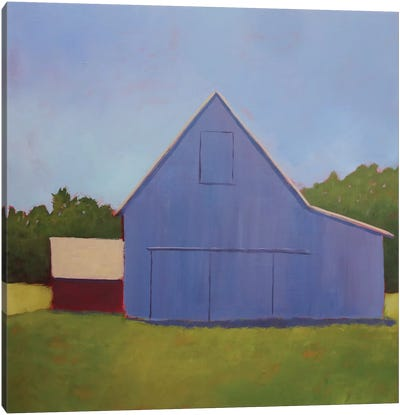Primary Barns I Canvas Art Print