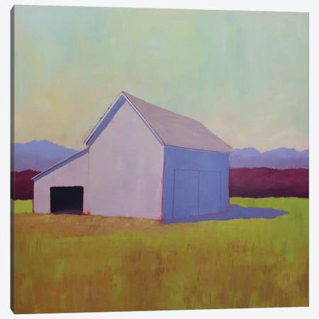 Primary Barns IV Canvas Print #CYO26} by Carol Young Canvas Artwork