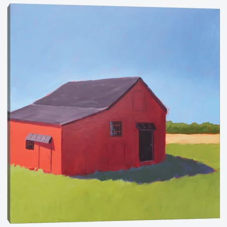 Primary Barns V Canvas Print #CYO27} by Carol Young Canvas Art