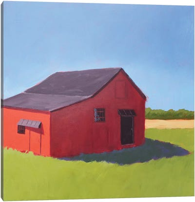 Primary Barns V Canvas Art Print