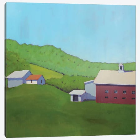Primary Barns VI Canvas Print #CYO28} by Carol Young Canvas Art Print