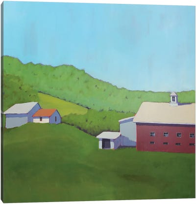 Primary Barns VI Canvas Art Print
