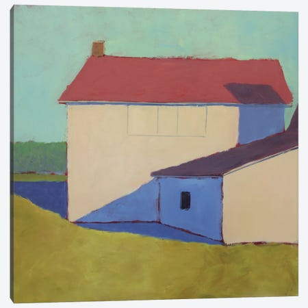 Primary Barns VII 3-Piece Canvas #CYO29} by Carol Young Canvas Art Print