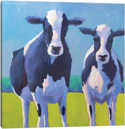 Cow Pals II Canvas Art Print