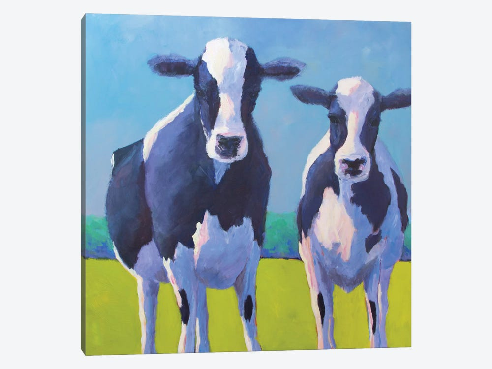 Cow Pals II by Carol Young 1-piece Canvas Art Print