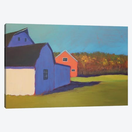 Primary Barns VIII Canvas Print #CYO30} by Carol Young Canvas Art