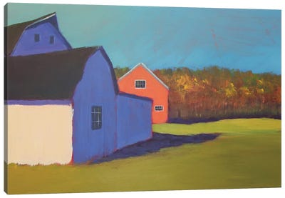 Primary Barns VIII Canvas Art Print