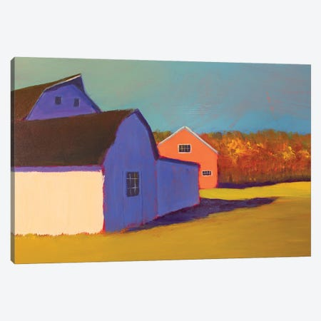 Bucolic Structure VII Canvas Print #CYO38} by Carol Young Canvas Wall Art