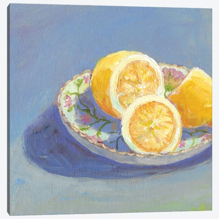 Still Citrus I Canvas Print #CYO45} by Carol Young Canvas Artwork